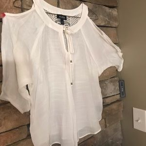 NEW summer cold shoulder top, size small